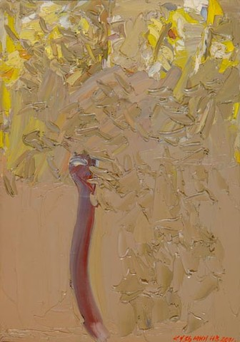 Bouquet of yellow marsh flowers. Oil on canvas, 50 x 35 cm (19.7 x 13.8 inches). 2001
