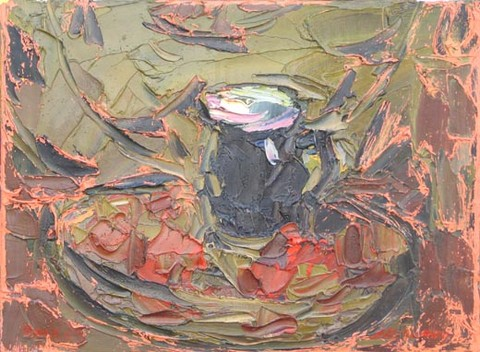 Blue cup. Oil on canvas, 30 x 40 cm (11.8 x 15.7 inches). 2002