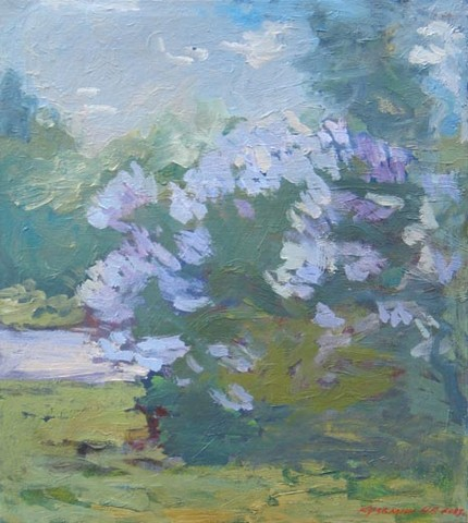 Lilac. Variant number 2. Oil on canvas, H 63 x W 56 cm (H 24.8 x W 22 inches). 2009