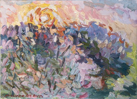 Lilac and sun. Oil on canvas, 30 x 40 cm (11.8 x 15.7 inches). 2015