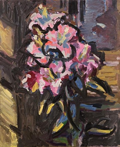 Lily number 4. Oil on canvas, 73 x 61 cm (28.7 x 24 inches). 2008